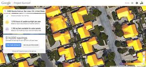Google prezentuje mapy potencjału solarnego