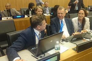Posiedzenie nt. informacji geoprzestrzennej w siedzibie ONZ