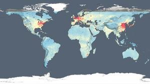 Pierwsza taka satelitarna mapa zanieczyszczenia powietrza