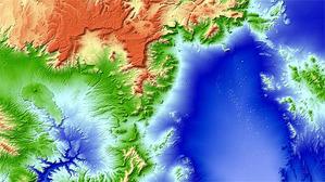 Najdokładniejszy model 3D świata gotowy <br /> Poligon atomowy w Newadzie (po prawej widoczne leje po eksplozjach)