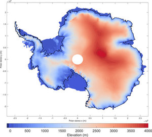 Lody Antarktydy w najwyższej szczegółowości