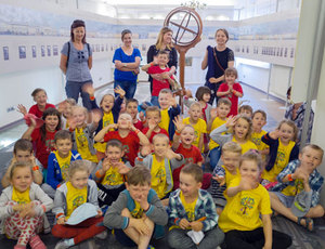 Przyszli geodeci zwiedzają Muzeum Geodezyjne