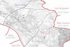 Powiat niżański: przetarg na modernizację baz rozstrzygnięty <br /> fot. Fragment mapy przeglądowej do projektu modernizacji EGiB dla gminy Nisko