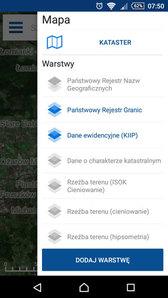 Łatwiejszy wybór warstw w mobilnym Geoportalu