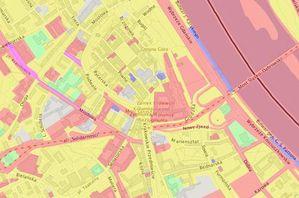 Wykaz nieruchomości dla KZN w rozporządzeniu <br /> Mapa własności nieruchomości w geoportalu Urzędu m.st. Warszawy