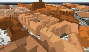 Opracowanie modeli 3D dla części województw - podejście drugie <br /> Modele LoD 2 we wrocławskim geoportalu