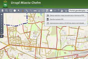 Wypisy z rejestru gruntów przez internet również w Chełmie i powiecie pruszkowskim