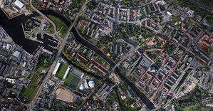 Całe miasto na ortofoto z drona
