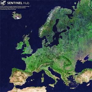 Cała Europa na zdjęciach z Sentinela-2