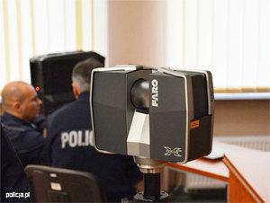 Pierwsza komenda policji w Polsce ze skanerem laserowym