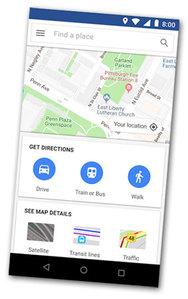 Google odchudza aplikację mapową
