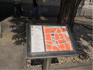 Kielce: mapy dla niewidomych wrażliwe na upały <br /> fot. UM Kielce