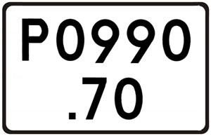 Katowicka GDDKiA zamawia pomiary punktów referencyjnych <br /> Oznakowanie drogowego punktu referencyjnego