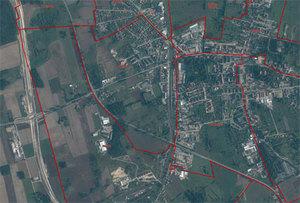 Sporo chętnych do budowy nidzickiej BDOT500 <br /> fot. Geoportal.gov.pl