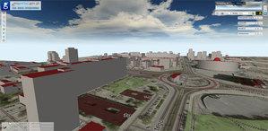 GUGiK uruchomił Geoportal 3D <br /> Centrum Katowic