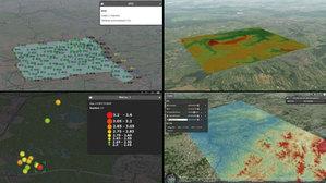 Ruszyła sieć stacji satelitarnych do badań deformacji na Górnym Śląsku <br /> Prezentacja danych projektu EPOS-PL w tworzonym serwisie: punkty oraz stacje pomiarowe z przedstawionym obszarem MUSE 1, numeryczny model powierzchni strukturalnej, wstrząsy sejsmiczne, usługa WMS prezentująca powierzchnię