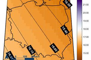 GUM prezentuje mapy godzin wschodu i zachodu słońca