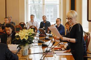 Konferencja katastralna: Prawo i cała reszta <br /> Przemawia dr hab. Katarzyna Sobolewska-Mikulska (PW), przewodnicząca komitetu naukowego i organizacyjnego konferencji