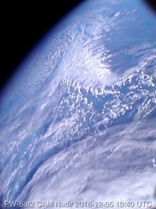 Oto pierwsze zdjęcie z polskiego satelity <br /> Pierwsze zdjęcie Ziemi wykonane przez satelitę PW-Sat2 5 grudnia 2018 ok. 10:40 UTC nad Europą (CC-BY-SA 4.0)
