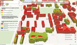 Ruda Śląska z mapą potencjału solarnego