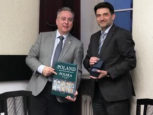 Posiedzenie Zarządu CLGE w Warszawie <br /> Prezydent CLGE Maurice Barbieri i prezes Zarządu PGK KZPFGK Robert Rachwał