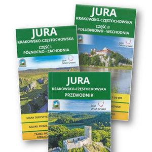 Mapy Jury Krakowsko-Częstochowskej i Karpat Wschodnich wyróżnione