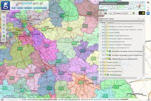 ZUS i sekcje map w Geoportalu