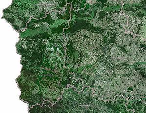Lubuskie powiaty zamawiają ortofotomapę <br /> fot. Geoportal.gov.pl