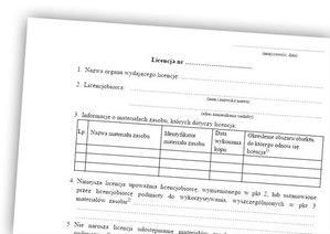 WSA o licencji na wstępny projekt podziału
