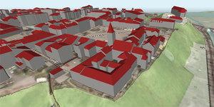 Lepszy NMT w Geoportalu 3D <br /> Sanok w Geoportalu 3D