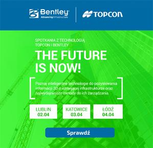 Zaproszenie na spotkania z technologiami Bentley i Topcon