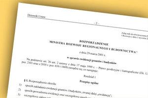 Jednolity tekst rozporządzenia ws. EGiB