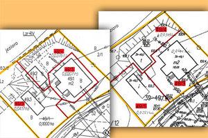 Geodeta czy urbanista? Opiniowanie projektu podziału w postępowaniu sądowym <br /> Fragmenty dwóch przykładowych projektów podziału z 11 przygotowanych przez biegłych i branych pod uwagę przez sąd [z artykułu Bogdana Grzechnika opublikowanego w GEODECIE 6/2018]