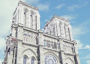 Skaning laserowy pomoże odbudować Notre Dame? <br /> Model 3D Notre Dame w grze Assassin's Creed Unity
