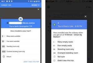 Mapy Google pytają o tłok w komunikacji publicznej <br /> fot. Android Police