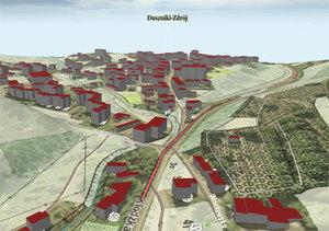 Modele budynków LoD 1 można już przeglądać w Geoportalu 3D