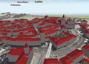 Lublin będzie mieć aktualny model 3D <br /> Model LoD CAPAP dla Lublina