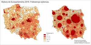 IGiK prezentuje wyniki wyborów do Europarlamentu na mapach