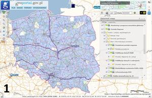 Nowa grupa warstw w Geoportalu - Stan informatyzacji powiatów <br /> fot. geoportal.gov.pl