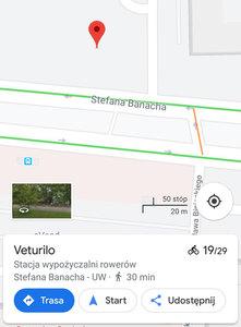 Wypożyczalnie rowerów na Mapach Google