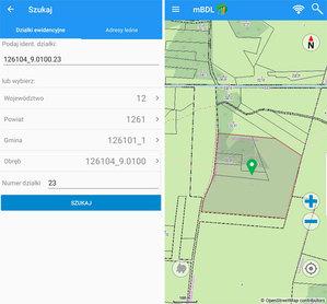 Mobilny Bank Danych o Lasach pomoże wyszukać działkę