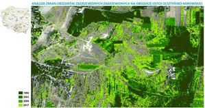 Nowoczesna teledetekcja wsparciem dla monitoringu środowiska <br /> Analiza zmian w zadrzewieniu i zakrzaczeniu na obszarze Ostoi Olsztyńsko-Mirowskiej (oprac. K. Osińska-Skotak)