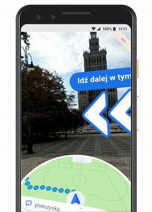 Google wprowadza rzeczywistość rozszerzoną do mobilnych map