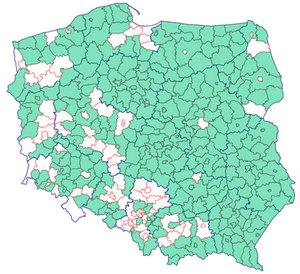Komunikacja EGiB-EKW we wszystkich kujawsko-pomorskich powiatach <br /> Powiaty korzystające z komunikacji EGiB-EKW