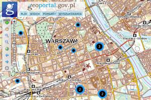 Informacje o nieruchomościach AMW w Geoportalu