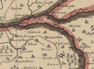 """Małoskalowe nabytki w internetowym Archiwum WIG <br /> Fragment mapy """"A. Newe. Mape of Poland done into english by J. Speed"""" z 1626 roku"""