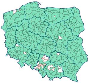 Ile powiatów korzysta z komunikacji EGiB-EKW?