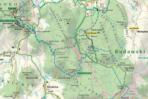 Zgłoś Mapę Roku w konkursie SKP <br /> Fot. Fragment mapy Rudawskiego Parku Krajobrazowego nagrodzonej w XVIII edycji konkursu