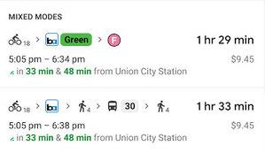 Złożone podróże z Mapami Google