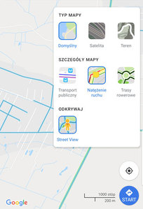 Nowa warstwa na Mapach Google